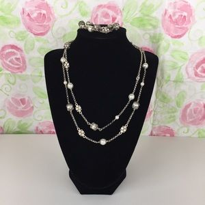 Brighton Retired Caged Pearl & Crystal Necklace